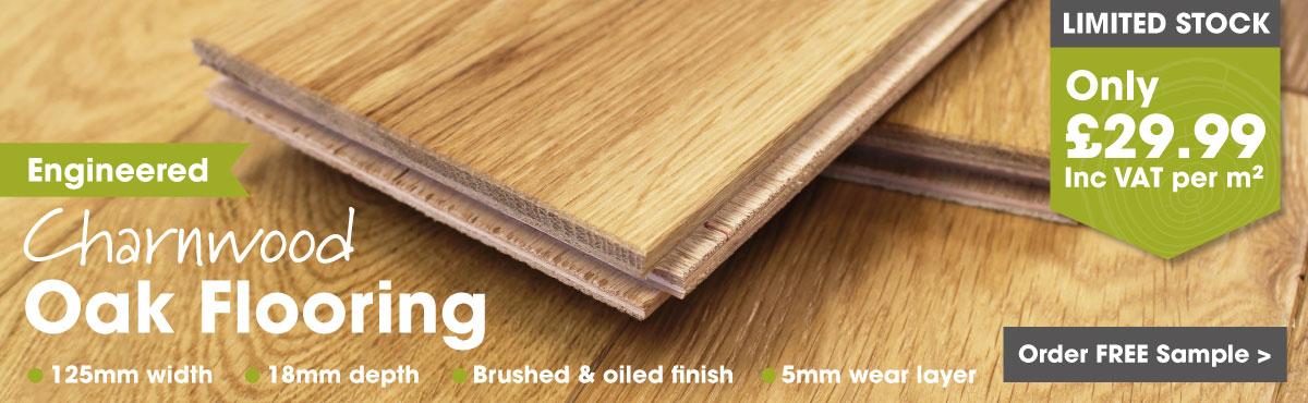 Engineered 125mm tongue and groove oak flooring