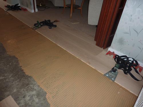 glue down flooring