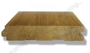 Solid wood flooring cross section