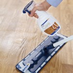 Can I use furniture polish to clean my hardwood floor?