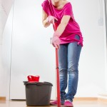 Can I use a mop to clean my hardwood floor?