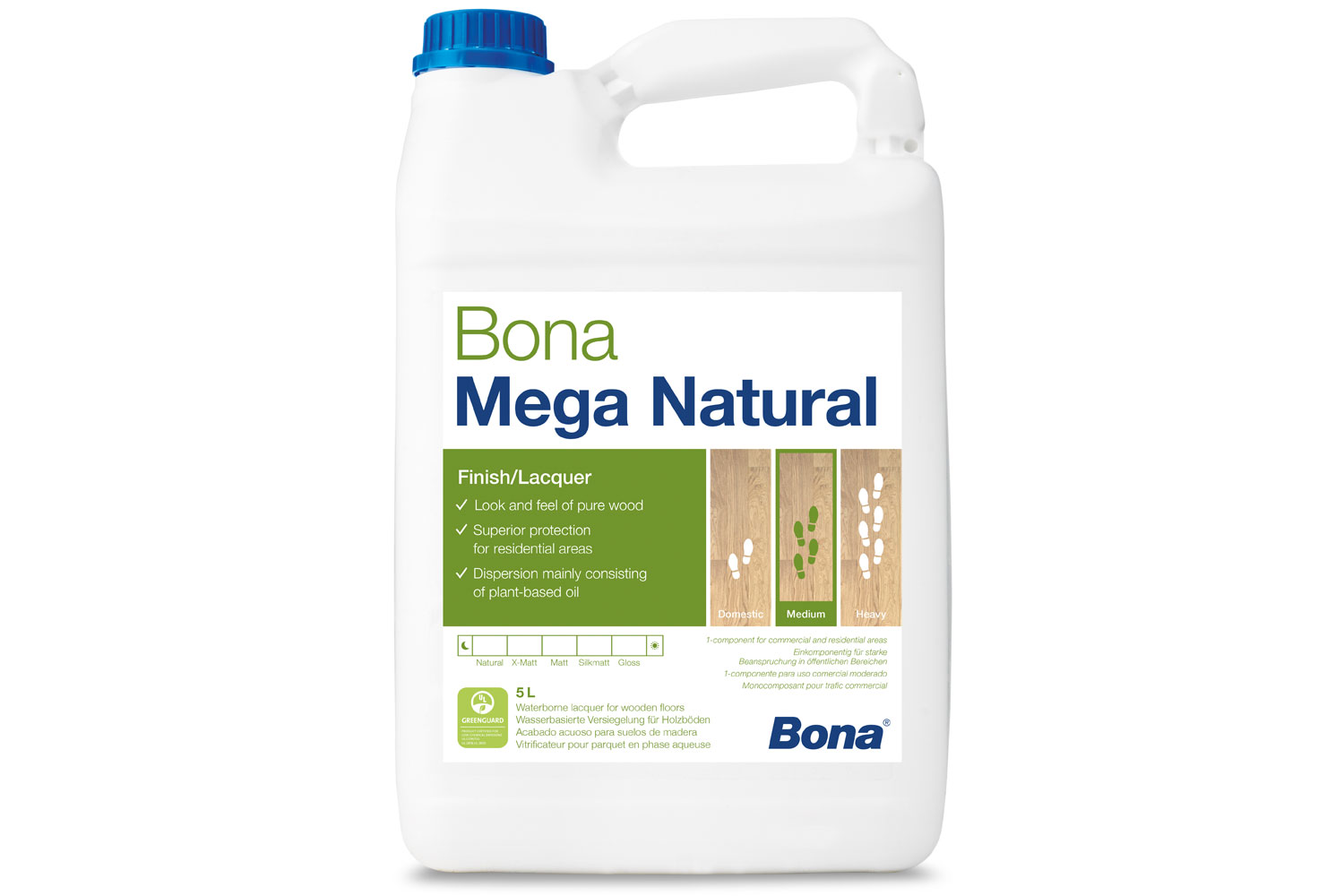 Bona Mega Natural 1 Component Varnish 5 Litre Interior Bon