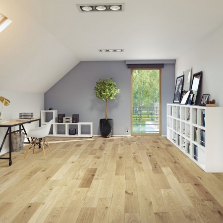 150mm Brushed & UV Oiled Engineered Light Natural Charnwood Oak Click Wood Flooring 1.08m²