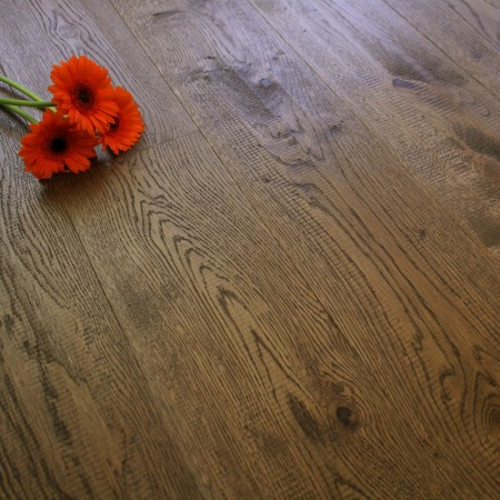 150mm Engineered Brushed and Oiled Caramel Brown Oak Wood Flooring 1.71m