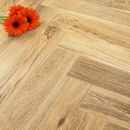 120mm Brushed & Oiled Engineered Nordic Oak Parquet Block Wood Flooring 0.864m²