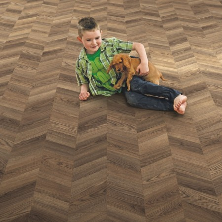 Elka 8mm Chevron Design Storm Oak ELV283 Laminate Flooring