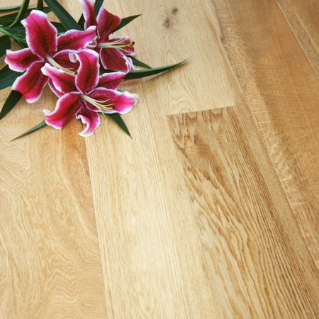 148mm Lacquered Engineered Oak Wood Flooring 2.2m²