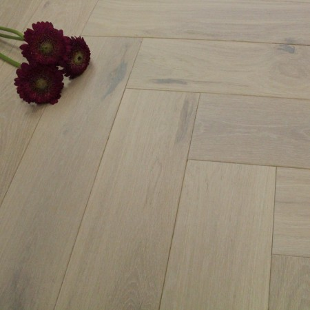120mm Engineered White Haze Oiled Parquet Block Oak Wood Flooring 0.72m²