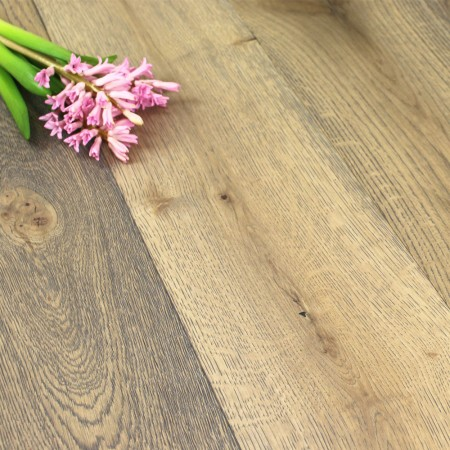 190mm Brushed & Oiled Engineered Sand Dune Oak Wood Flooring 2.166m²