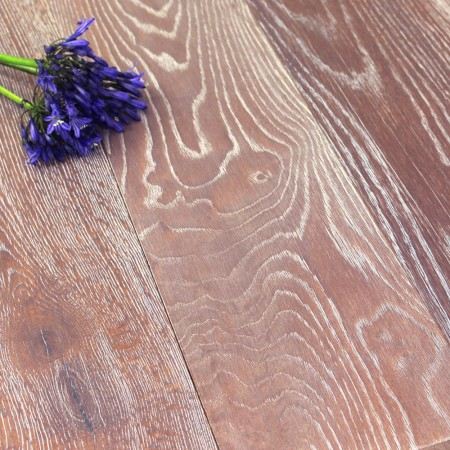 190mm Brushed & Oiled Engineered Morrocan Flame Oak Wood Flooring 2.166m²