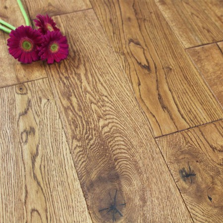 150mm Lacquered Wheat Solid Oak Wood Flooring 1.98m²