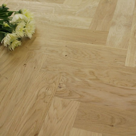 70mm Unfinished Natural Parquet Block Solid Oak Wood Flooring 1.26m²