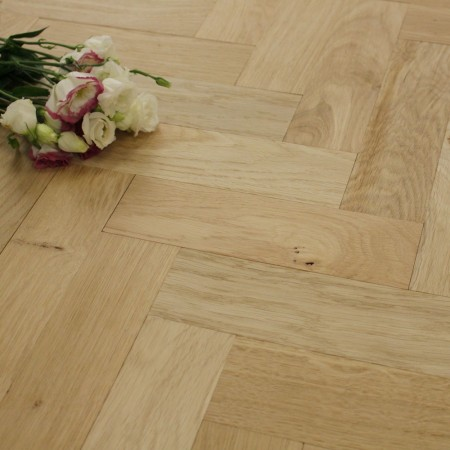 70mm Unfinished Natural Parquet Block Solid Oak Wood Flooring 1.06m²