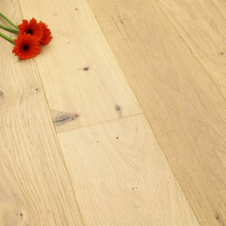 190mm UV Oiled Engineered Limehouse White Rustic Oak Wood Flooring 2.17m²