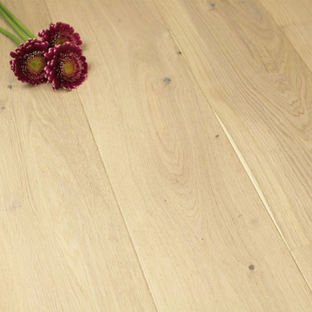 180mm Brushed & Oiled Engineered Oyster Oak Click Wood Flooring 2.77m²