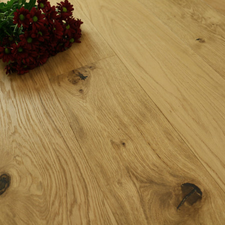 190mm Engineered Brushed & Oiled 1-Strip Oak Wood Flooring 2.88m²