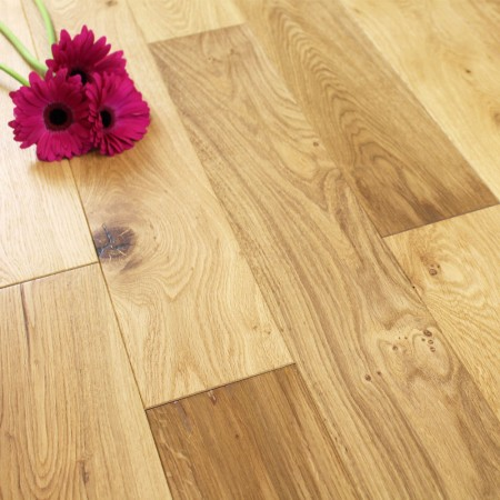 125mm Brushed & UV Oiled Engineered Charnwood Oak 18/4mm Wood Flooring 2.2m²