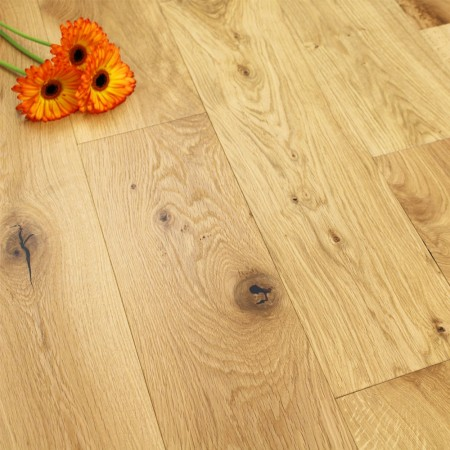 190mm UV Oiled Engineered Charnwood Oak Wood Flooring 2.508m²