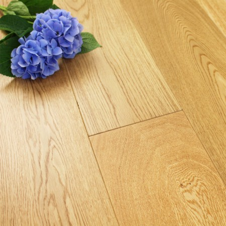 190mm Matt Lacquered Engineered Wide Select/Nature Oak Wood Flooring 2.166m²