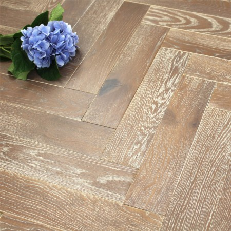 90mm UV Oiled Engineered Moroccan Flame Oak Parquet Block Wood Flooring 1.8144m²