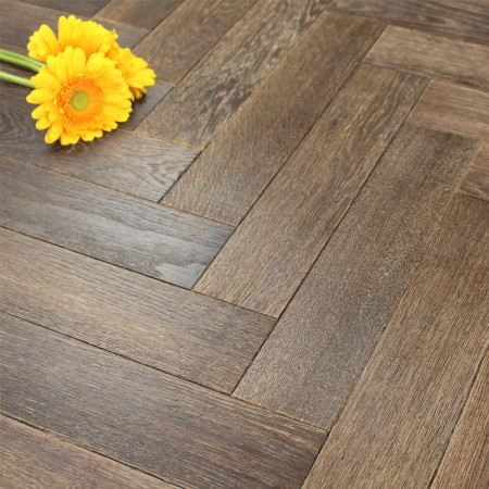 90mm UV Oiled Engineered Conker Oak Parquet Block Wood Flooring 1.8144m²