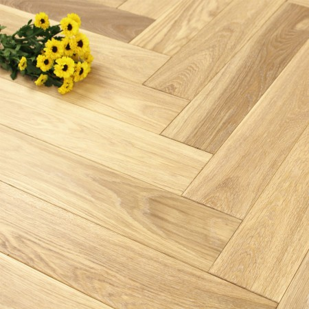 100mm UV Oiled Engineered White Wash Oak Parquet Block Wood Flooring 0.5m2