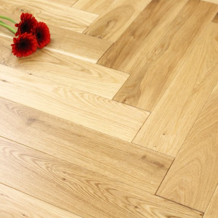 100mm Lacquered Engineered Oak Parquet Block Wood Flooring 0.5m²