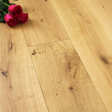 190mm Brushed & Matt Lacquered Engineered Rustic Oak Flooring 2.166m²