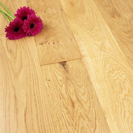 150mm Lacquered Engineered Rustic Oak Wood Flooring 1.71m²