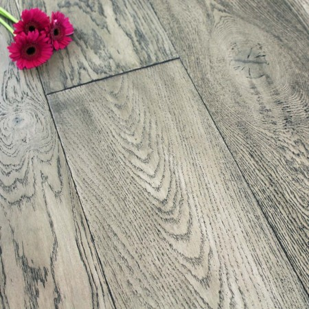 240mm Oiled Engineered Graphite Oak Wood Flooring 2.64m²