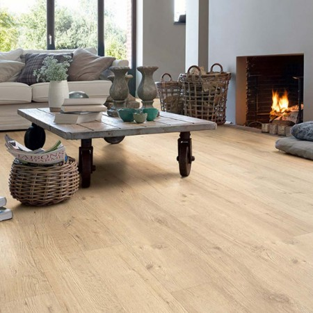 Quick-Step Impressive Sandblasted Oak Natural IM1853 Laminate Flooring