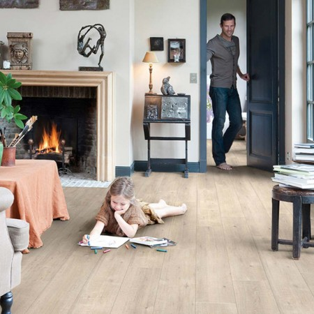 Quick-Step Impressive Ultra Saw Cut Oak Beige IMU1857 Laminate Flooring