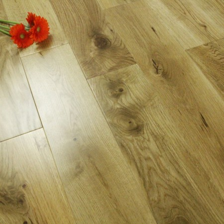 130mm UV Lacquered Solid Rustic Oak 18mm Wood Flooring 2.184m²