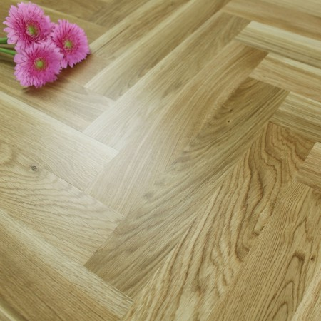 Engineered Rustic Oak Lacquered Parquet Block Wood Flooring 1.47m²
