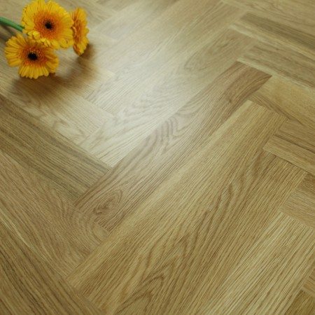 Engineered Prime Oak Lacquered Parquet Block Wood Flooring 1.47m²