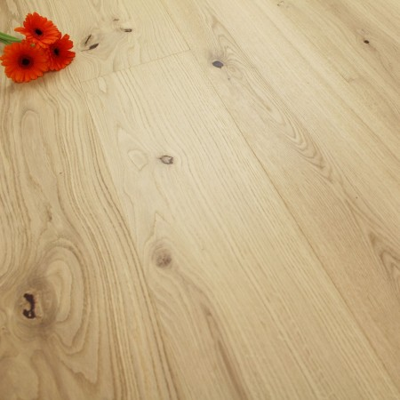 182mm Brushed & Natural Oiled Engineered Oak Cocoa Cream Click Wood Flooring 2.4m²