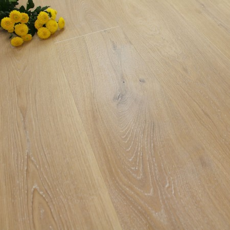 222mm Brushed & Natural Oiled Engineered Tortilla White Click Wood Flooring 2.93m²