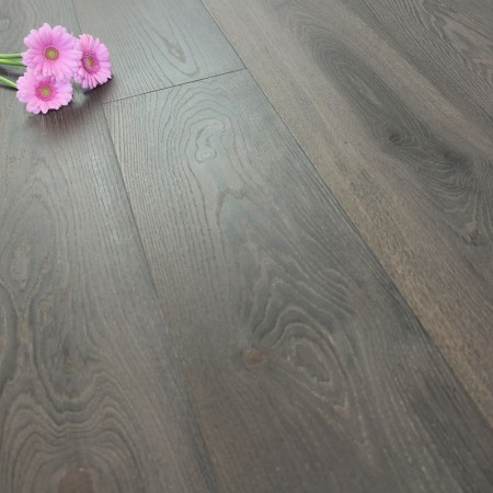 222mm Brushed & Natural Oiled Engineered Deep Onyx Click Wood Flooring 2.93m²