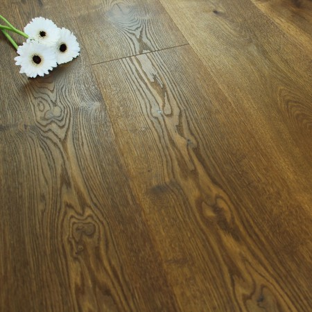 222mm Brushed & Natural Oiled Engineered Autumn Harvest Click Wood Flooring 2.93m²