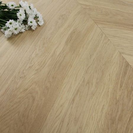 140mm Engineered Brushed & Oiled Natural Light Oak Chevron Block Wood Flooring 1.45m²