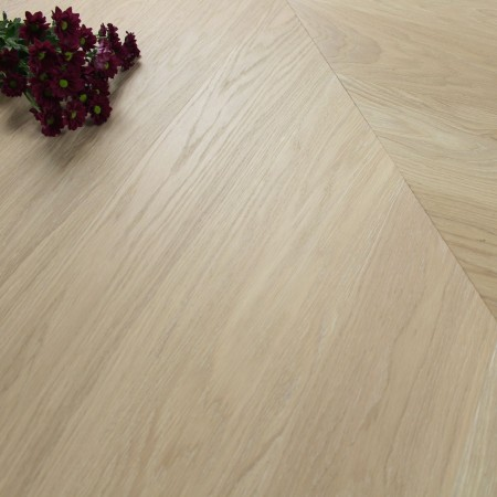 140mm Engineered Brushed & Oiled Linen White Oak Chevron Block Wood Flooring 1.45m²