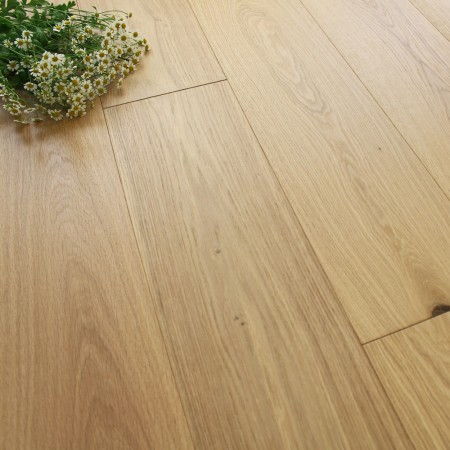 190mm Engineered Brushed & Invisible Lacquered Oak Wood Flooring 2.888m²