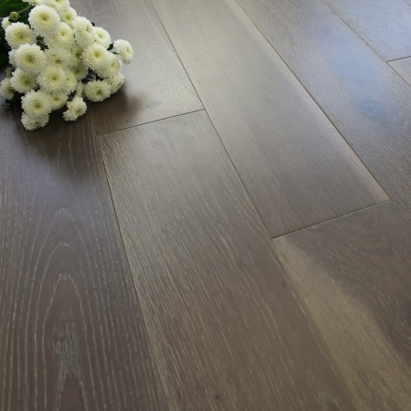 150mm Brushed & UV Lacquered Engineered Smoked Artisan Brown Oak Wood Flooring 1.98m²