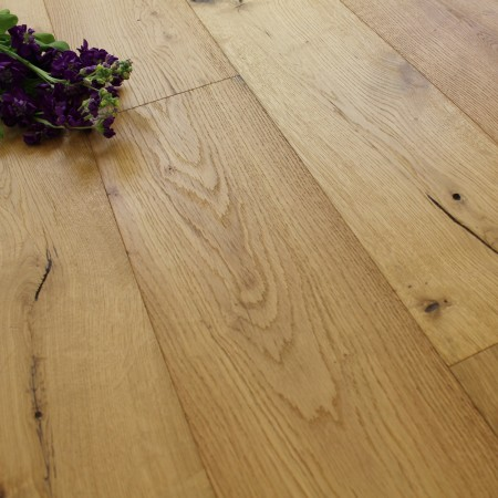 190mm Engineered Rustic Brushed and UV Oiled Oak Wood Flooring 2.89m²