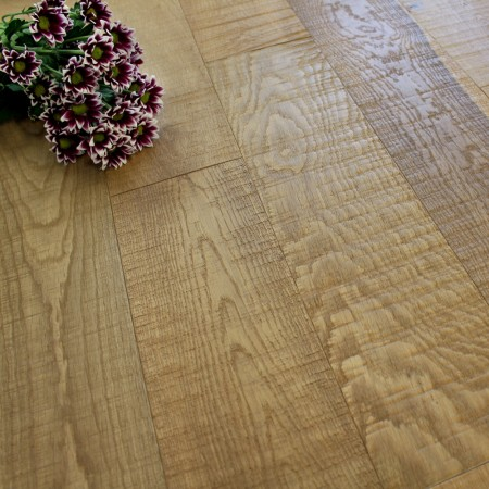 150mm Matt Lacquered Engineered Raw Sawn Oak 18mm Wood Flooring 1.98m²