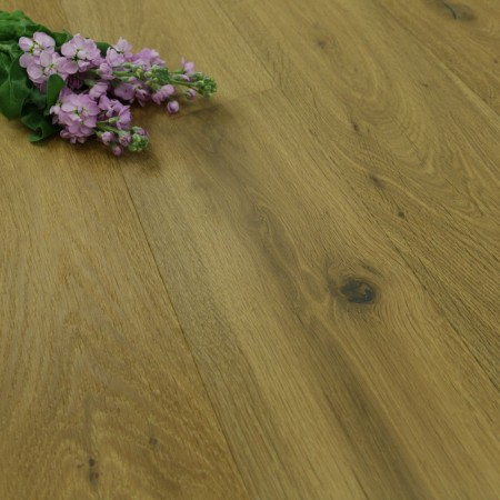 190mm Brushed, Smoked & Natural Oiled Engineered Oak Wood Flooring 2.89m²
