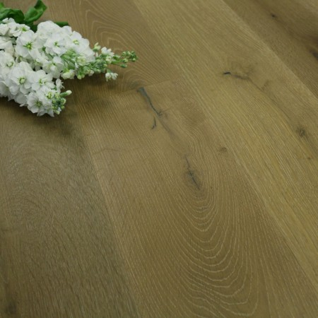 190mm Brushed, Smoked & White Oil Washed Engineered Oak Wood Flooring 2.89m²