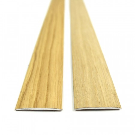 Self adhesive Oak Veneered Aluminium Door Bar Threshold cover strip
