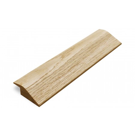 Solid Oak 15mm R Section Door Bar Threshold Ramp