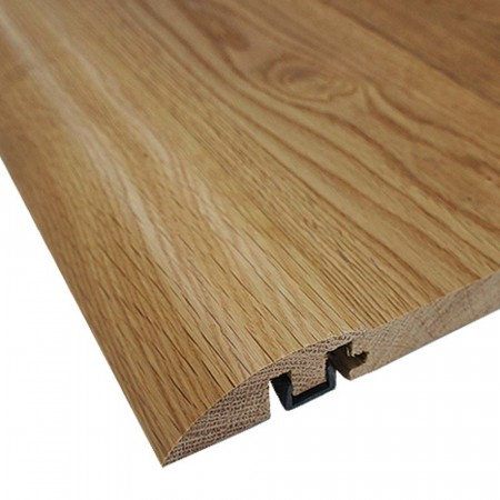 Oak Ramp Door Bar Pre-Finished & Un-Finished With Plastic Strip)